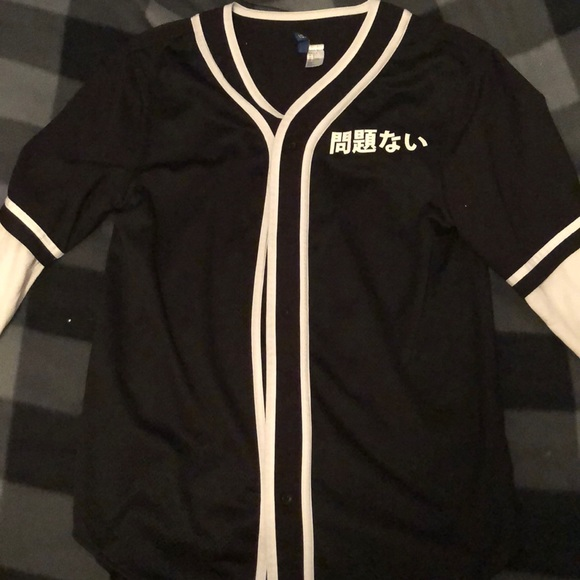 low priced 90252 b65f0 Long Sleeve baseball jersey style button up